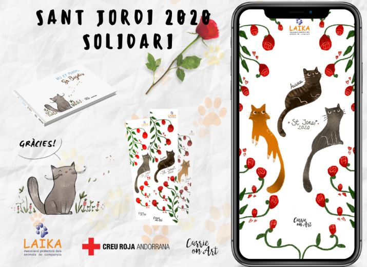 Sant Jordi Solidari amb Laika i la Creu Roja Andorrana
