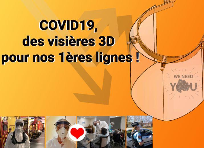COVID19, des visières 3D pour nos 1ères lignes !