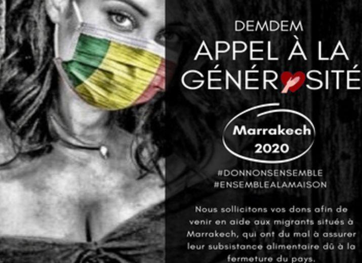 DEMDEM appel à la Générosité / Migrants à Marrakech 2020