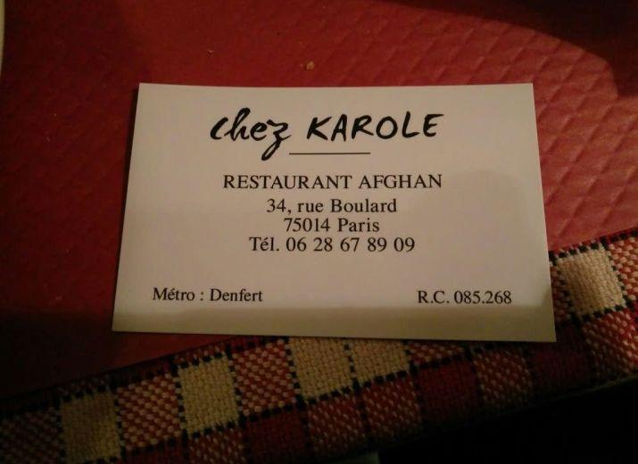 Tout le monde avec Karole, son restaurant Afghan unique dans le 14 éme arrondissement de PARIS a brulé dans la nuit du 1ier au 2 mai 2020