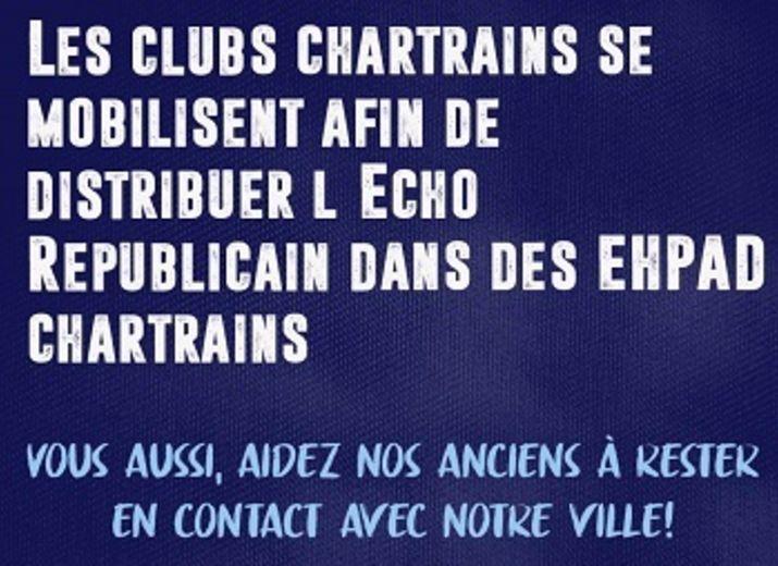 Le sport Chartrain et l'Echo aident nos aînés dans des EHPAD