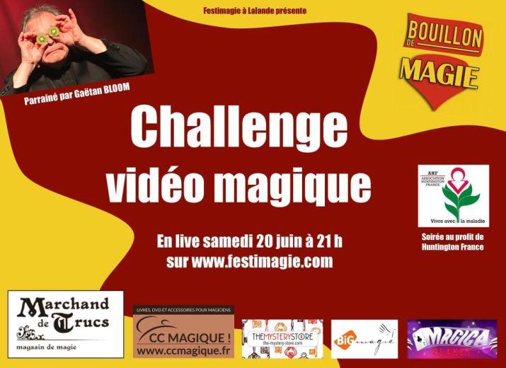 Challenge vidéo magique au profit de Huntington France