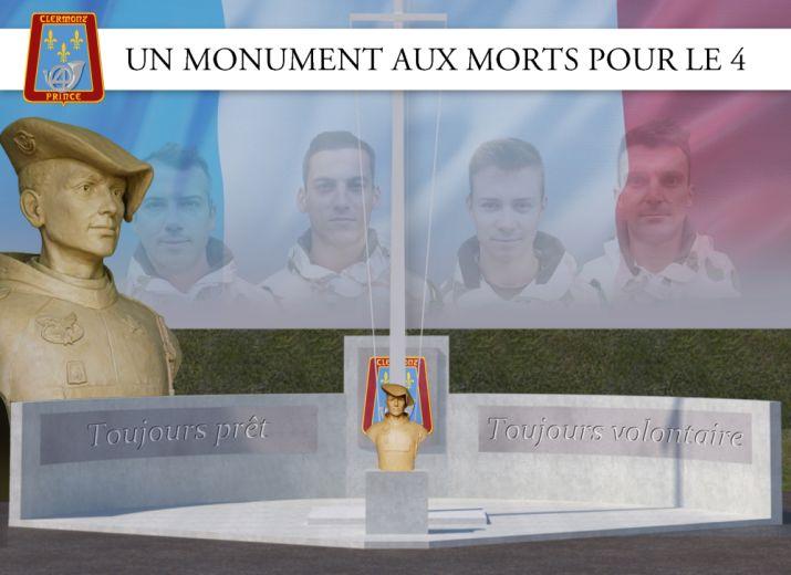 Un monument aux morts pour le 4