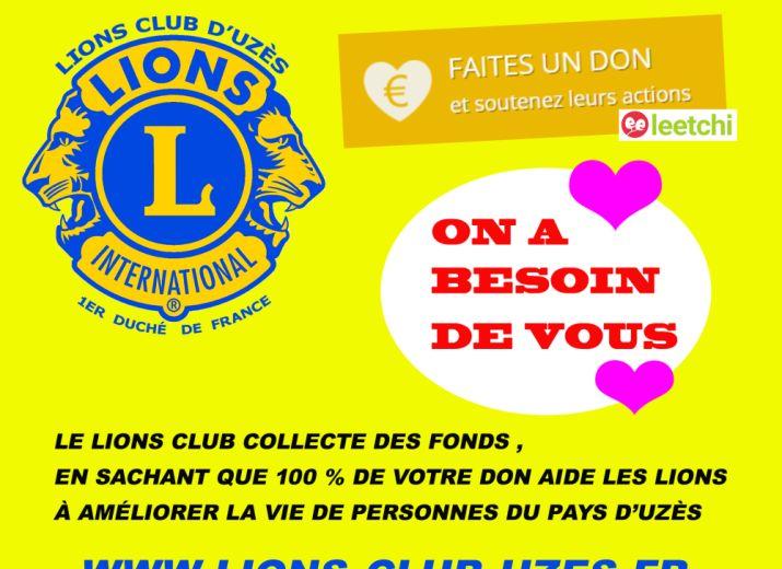 Aidez le lions club d'Uzès