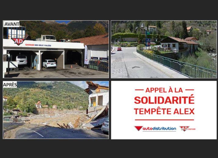 Appel à la Solidarité Tempête Alex - Garage AD