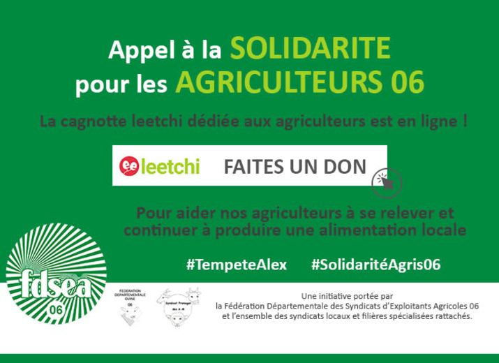 Tempête Alex - SOLIDARITE AGRICULTEURS 06
