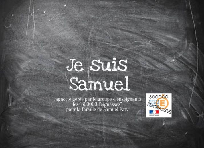 """Cagnotte de soutien à la famille de Samuel Paty proposée par le groupe d'enseignants """"800000 feignasses"""""""
