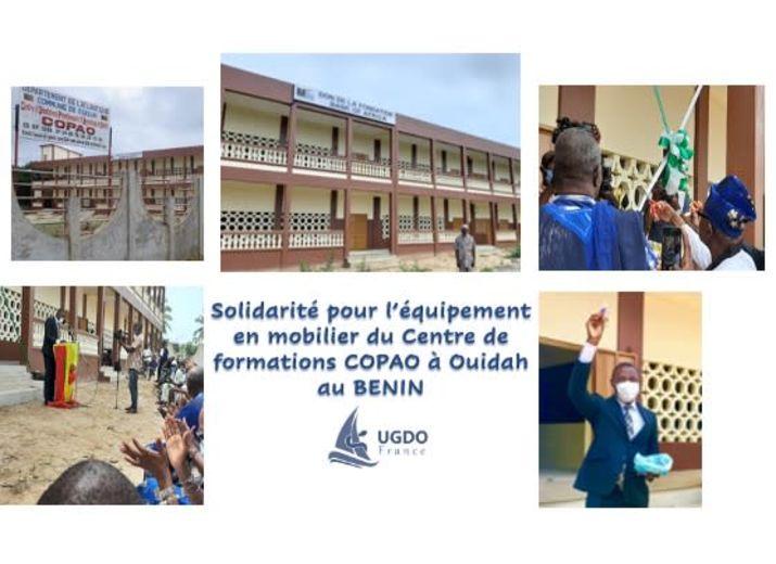Soutien pour équiper en mobilier les salles du Centre de formations COPAO à Ouidah au Bénin