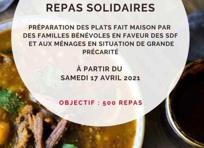 Repas solidaire en faveur des personnes vulnérables