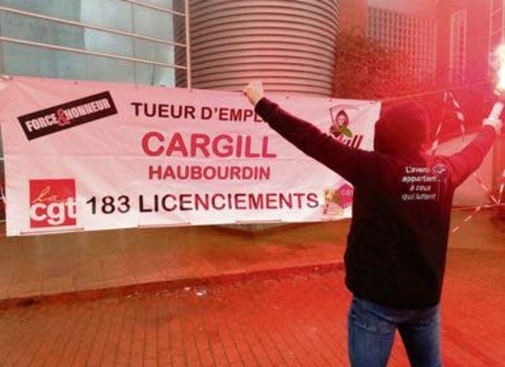 Action solidaire pour les licenciés de Cargill Haubourdin