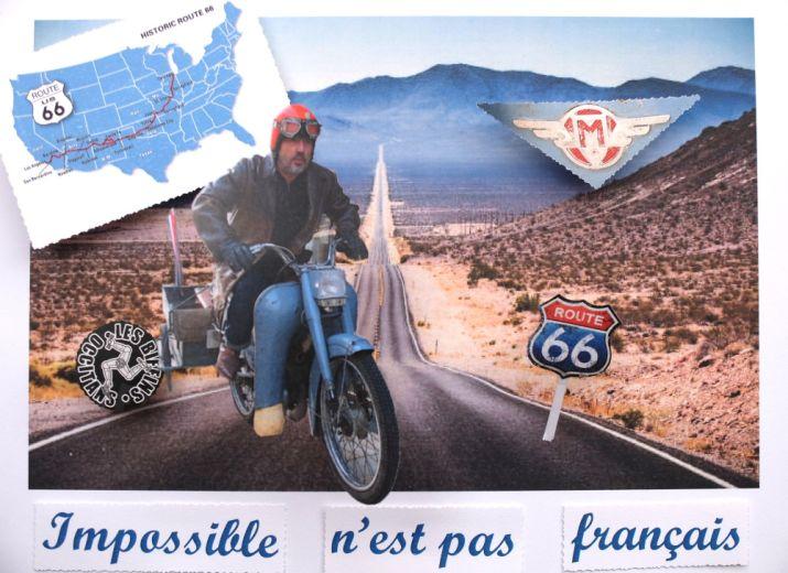 La route 66 en Bleue
