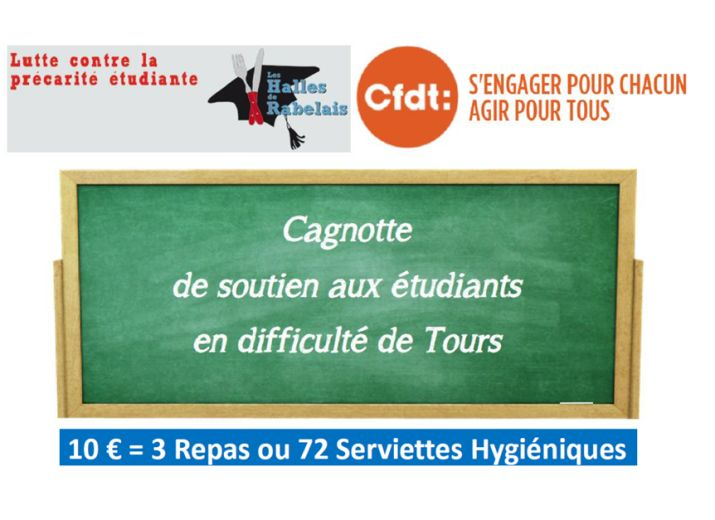 Cagnotte de soutien aux étudiants en difficulté de Tours