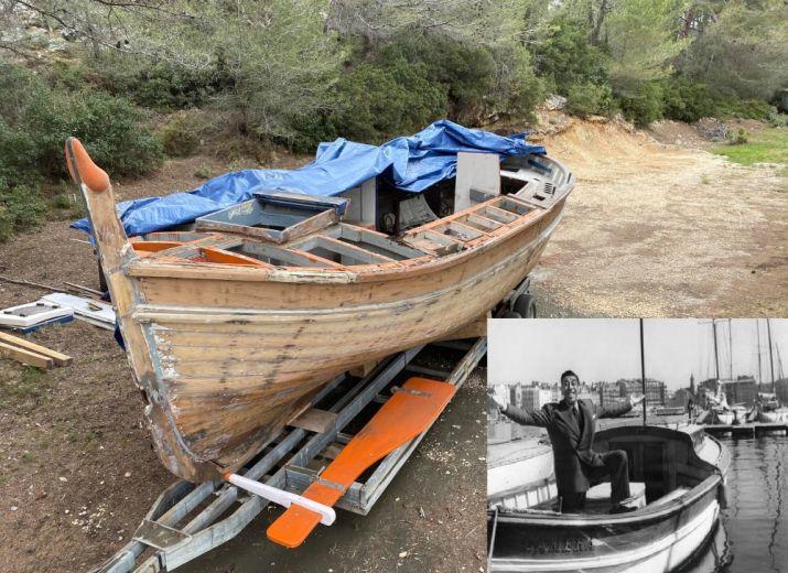 En barque avec Fernandel
