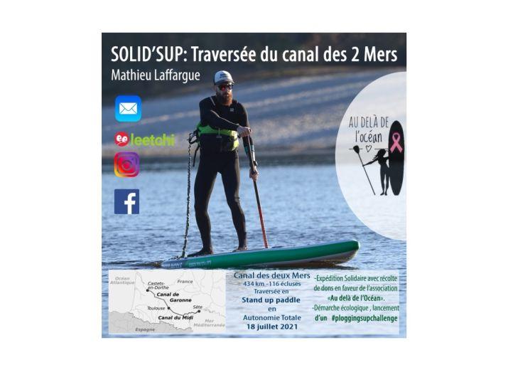 Solid'SUP : Traversée du canal des 2 Mers.