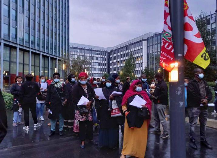 Solidarité avec les grévistes du nettoyage de Jussieu