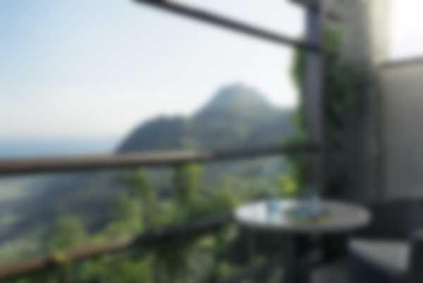 Aussicht von dem Deluxe Junior Suite Balkon von Lefay Resort & SPA Lago di Garda