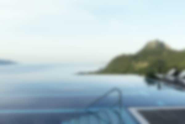 Vista sul Monte Castello dall'Infinity Pool di Lefay Resort & SPA Lago di Garda
