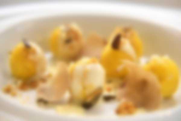 """""""Gli Gnocchi """" Lefay Vital Gourmet first course of """"La Grande Limonaia"""" Restaurant"""