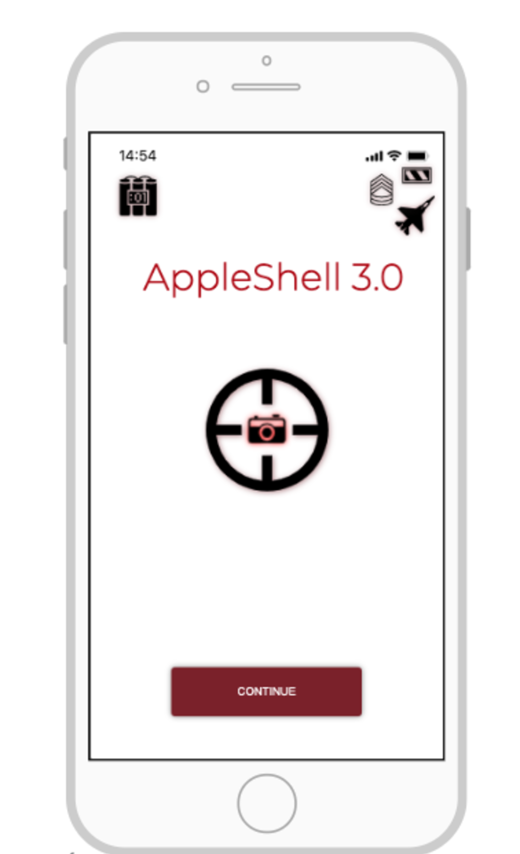 APPLE Shell 3.0 home screen