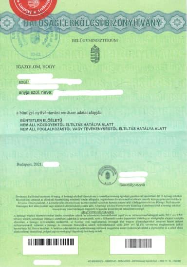 Rejstřík trestů z Maďarska