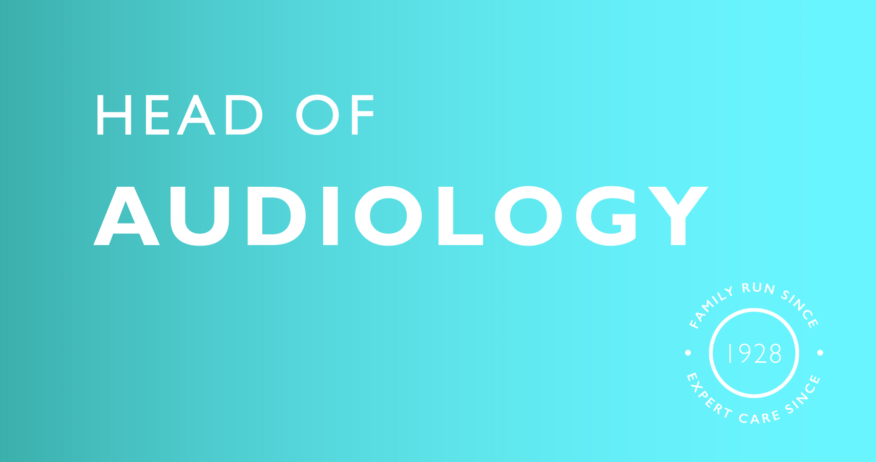 head of audiology