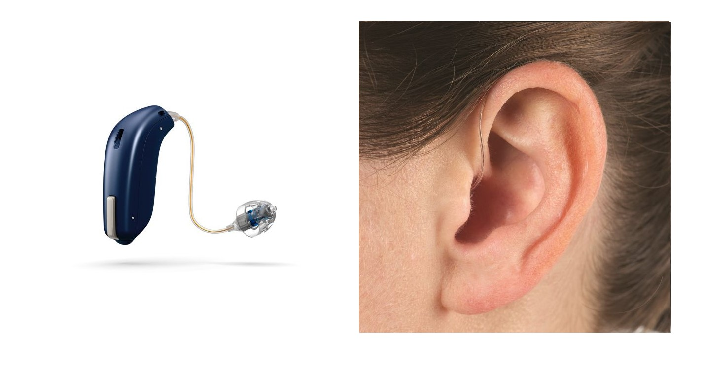Behind the ear hearing aid device and in ear