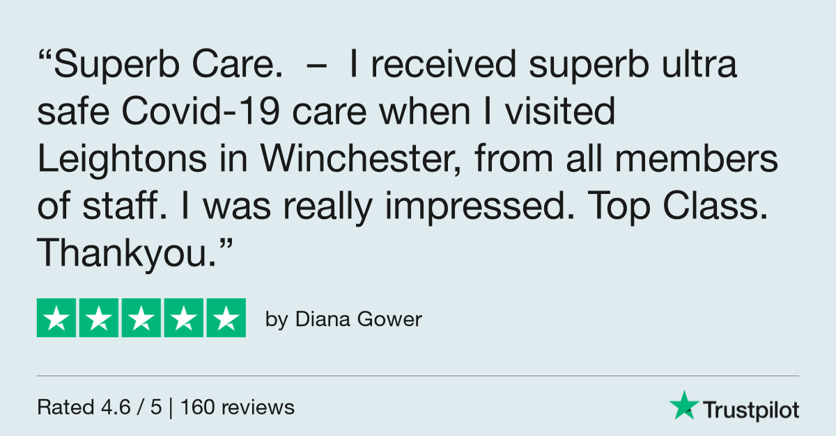 Diana Gower Trustpilot review - Excellent COVID safety measures