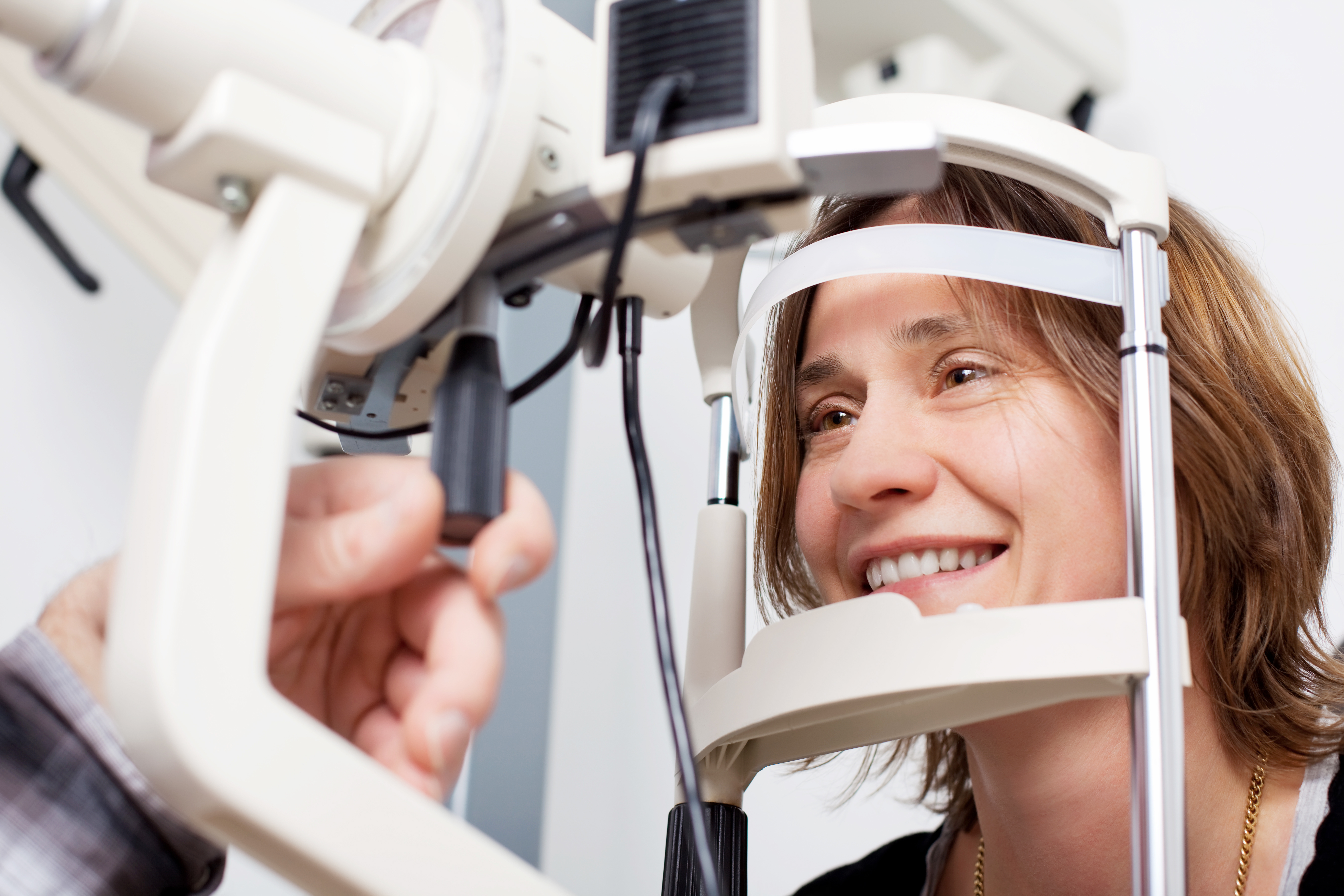 Lady having her eye test
