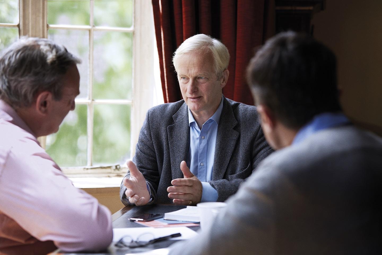 men speaking