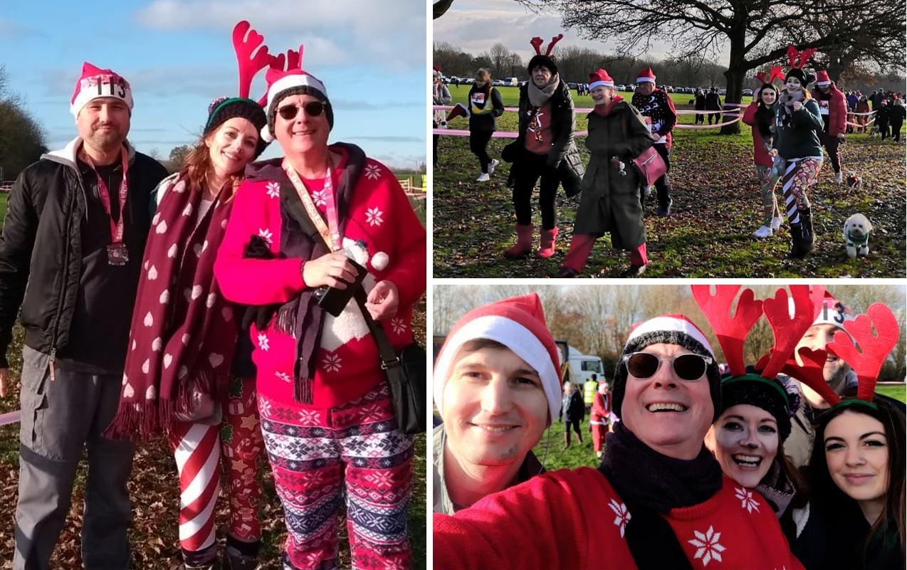 leightons swindon team at fun run
