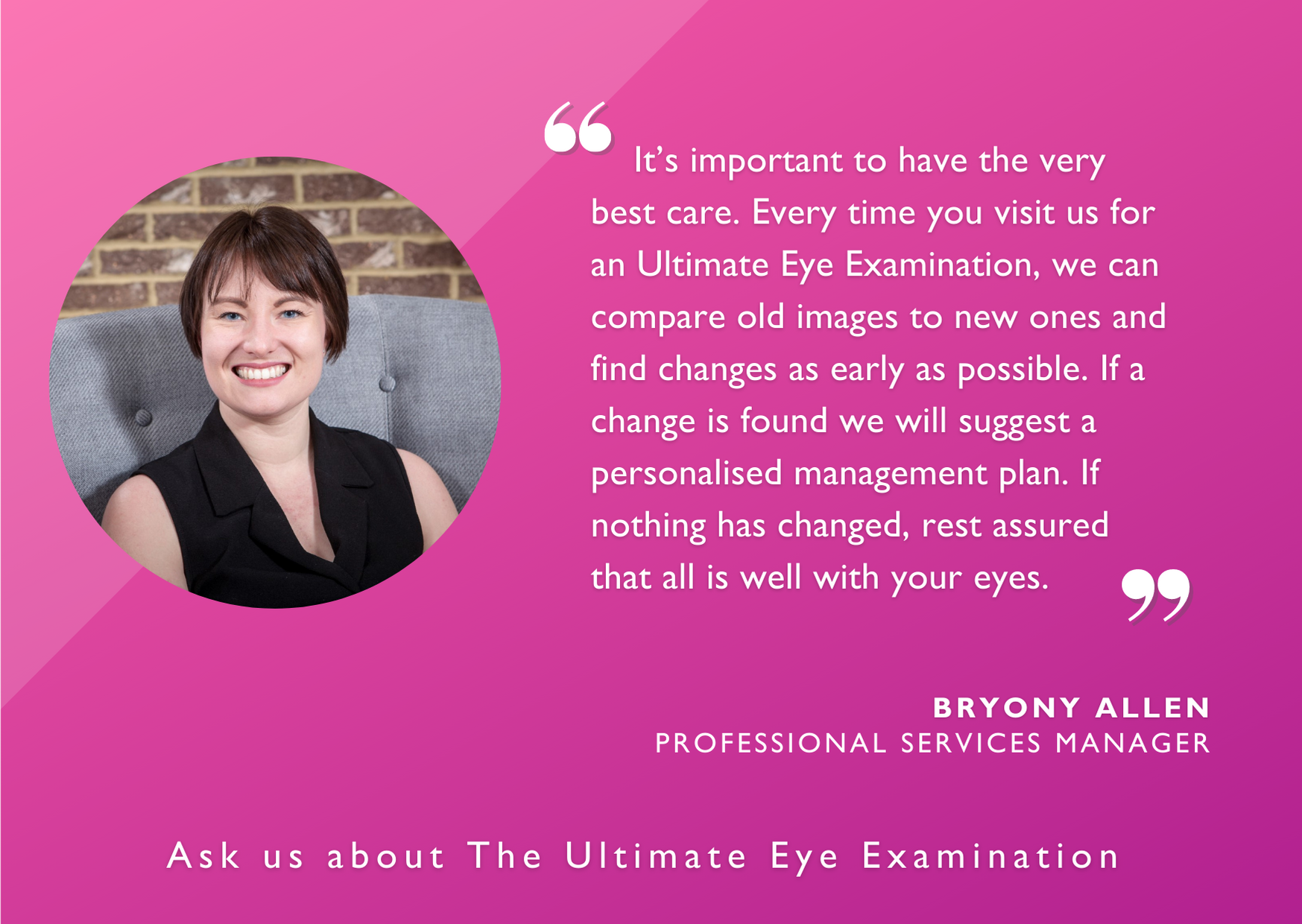 Bryony Allen, Professional Services Manager quoted on the Leightons Optomap