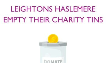 Leightons Haslemere empty their charity tins