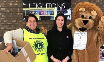 Leightons Basingstoke donate used glasses to Lions Club International