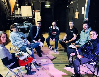 Leightons Woodley visit Rock Academy