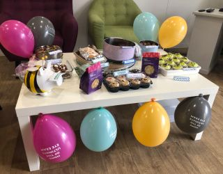 Leightons take part in the 'World's Largest Coffee Morning' in support of Macmillan