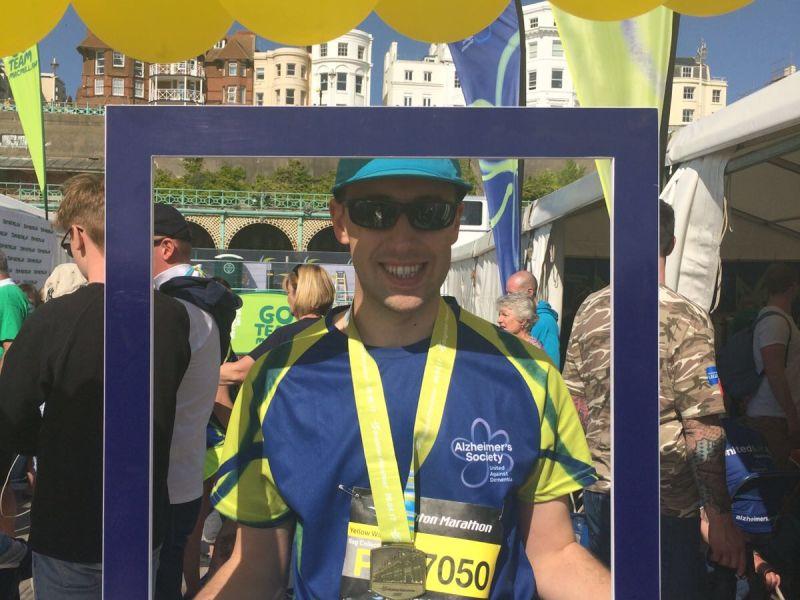 Sean Matthews completed marathon