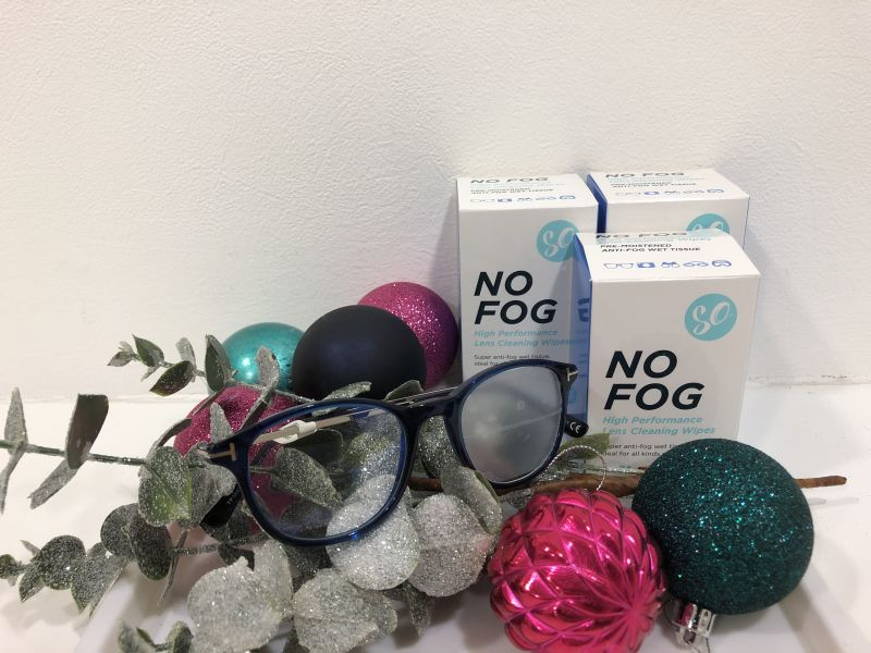 Glasses with baubles and no fog wipes