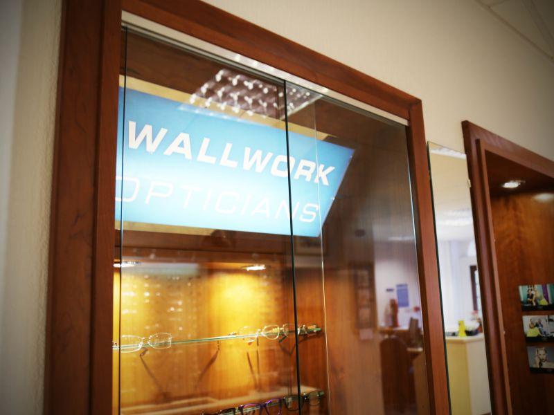 wallwork opticians display