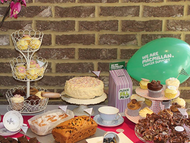 Leightons Macmillan coffee morning