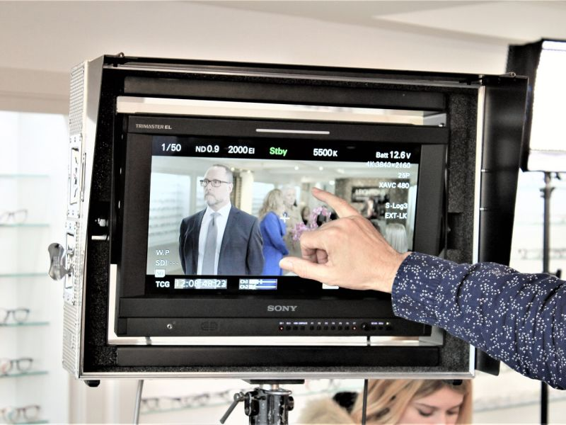 Leightons TV advert filming