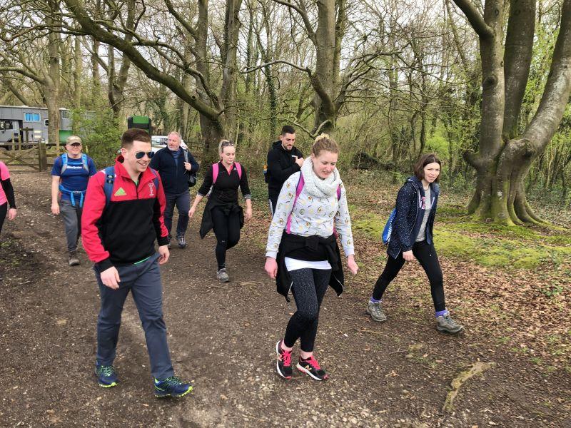 Leightons fundraising walk
