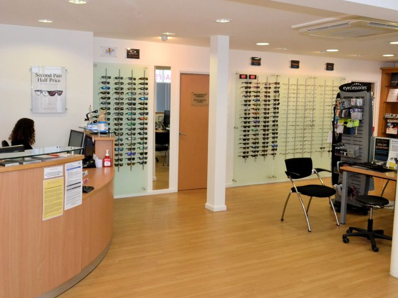 haine and smith opticians interior