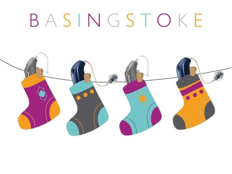 Basingstoke text and hearing aids in stockings