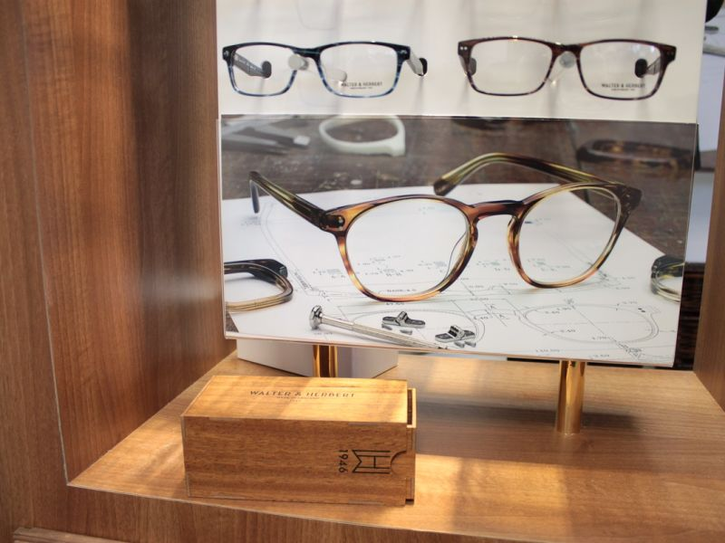 Walter and Herbert glasses display