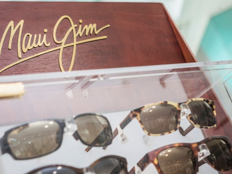 Display of Maui Jim sunglasses
