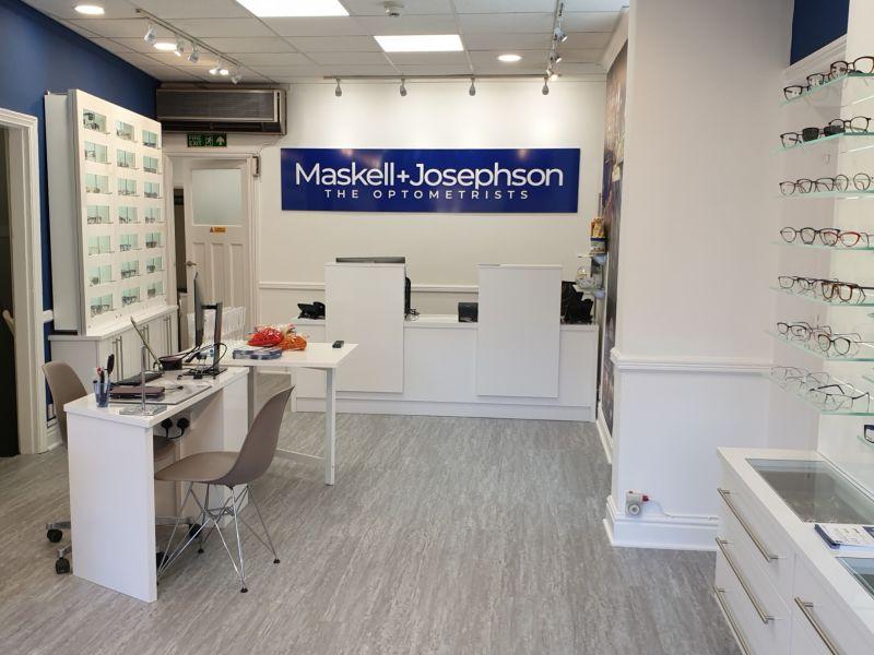 maskell and josephson opticians interior