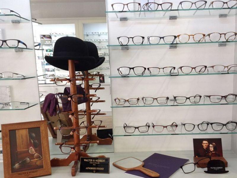 Walter and Herbert display of glasses