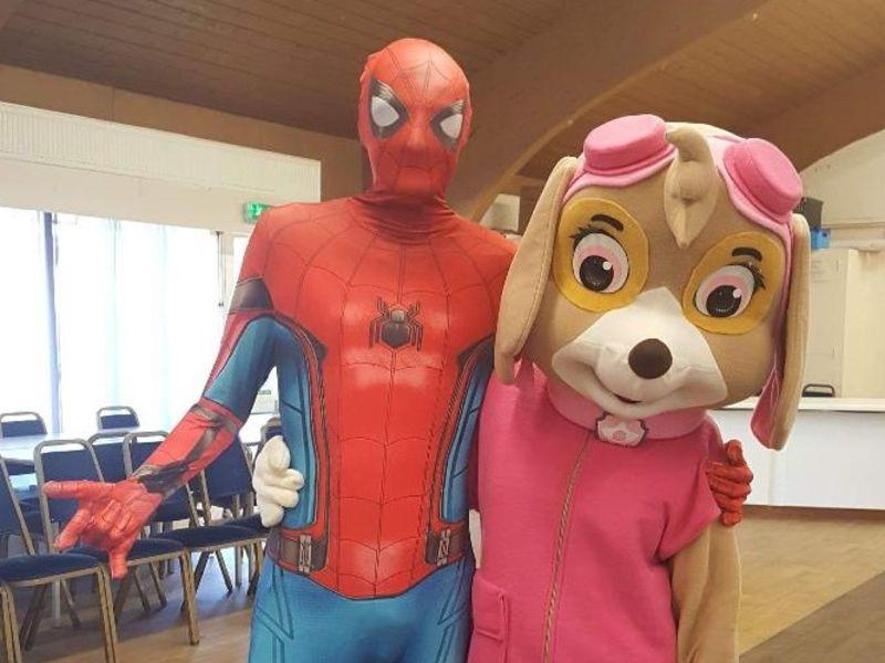 Spiderman and Paw Patrol fancy dress