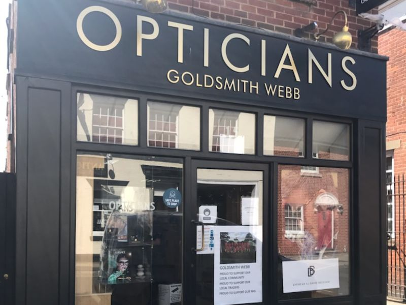goldsmith webb opticians Rochford exterior