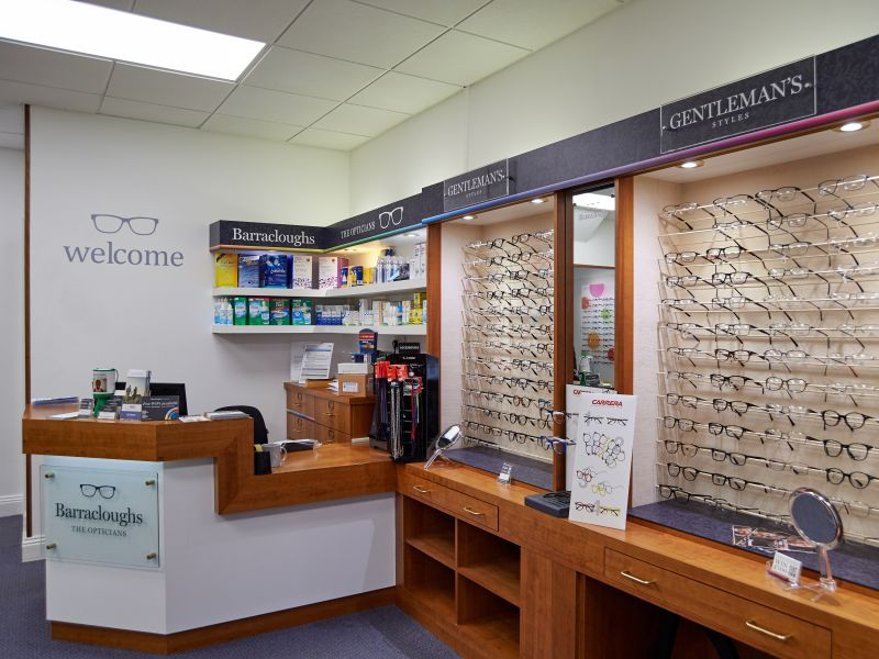 barracloughs opticians interior lewes